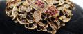 Peranakan Ruby Carp Brooch (Sold)