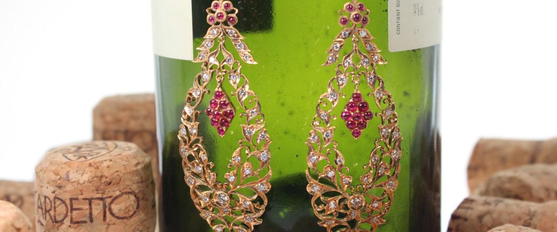 Peranakan Grapes Earrings (Sold)