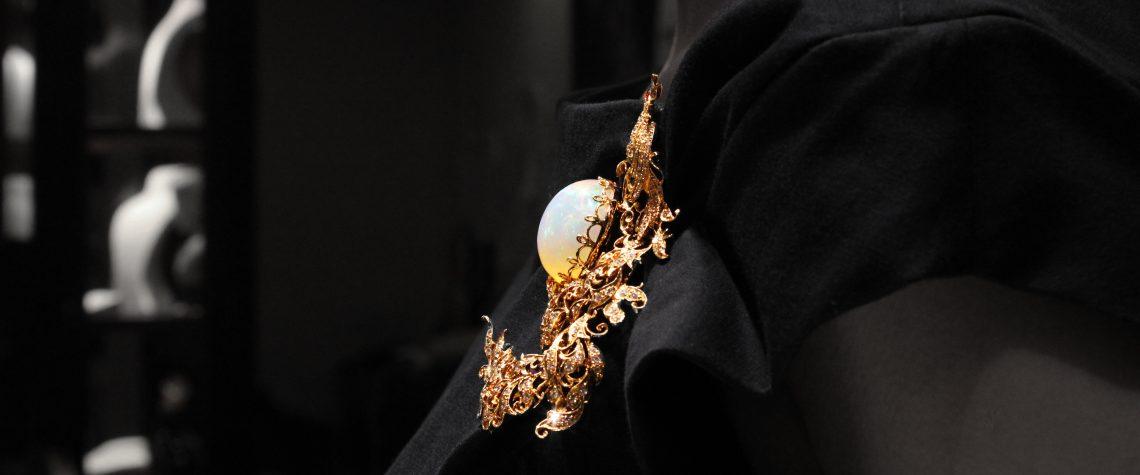 Peranakan Opal Phoenix Brooch